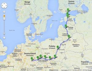 Nürnberg - Tallinn - Helsinki