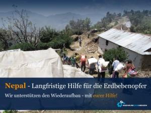 Langfristige Hilfe für die Erdbebenopfer
